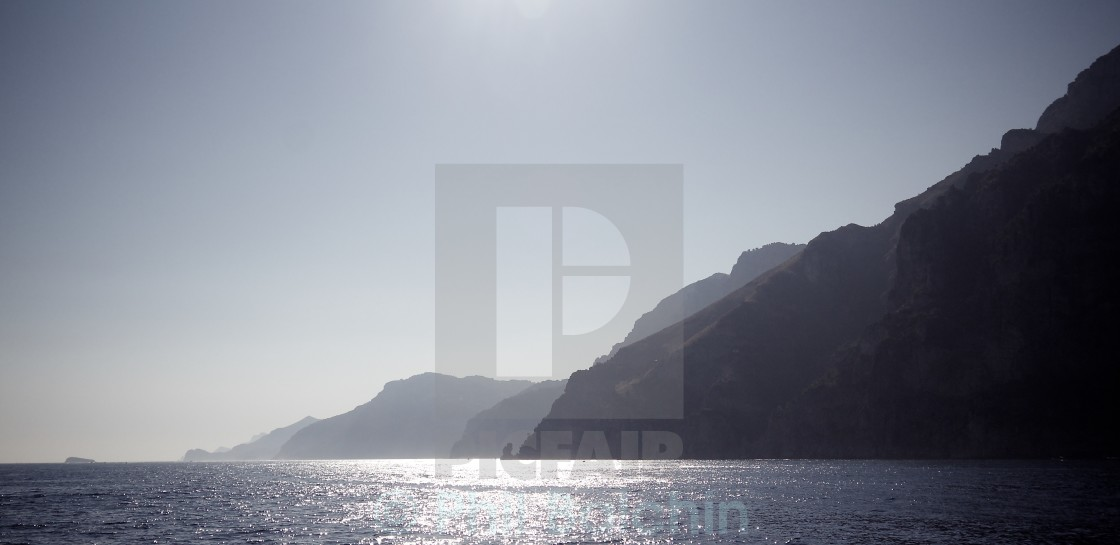 """Cliffs in the Bay of Naples"" stock image"