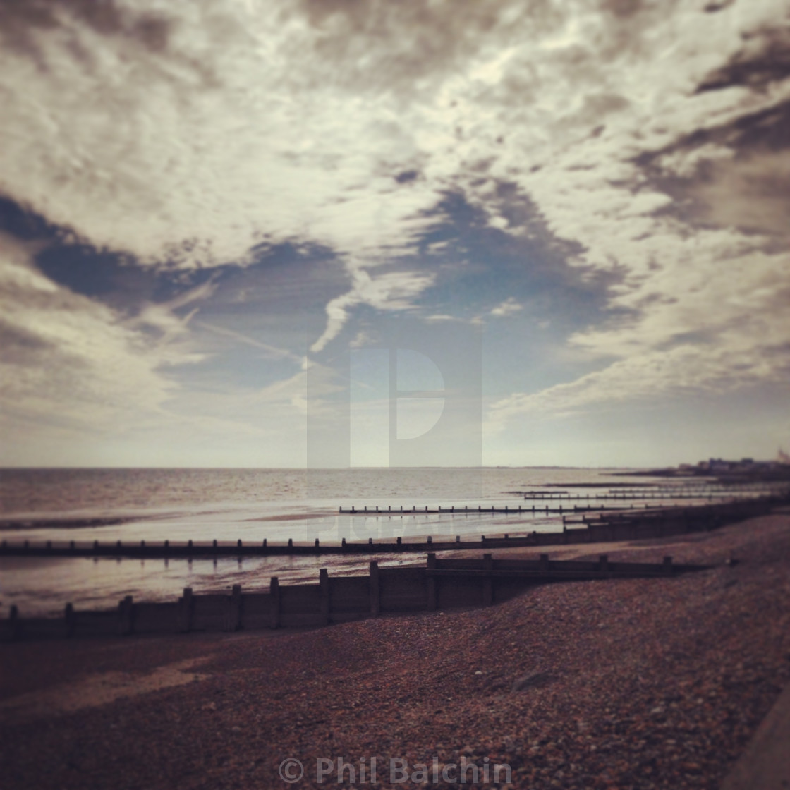 """Seafront in the Sunshine"" stock image"
