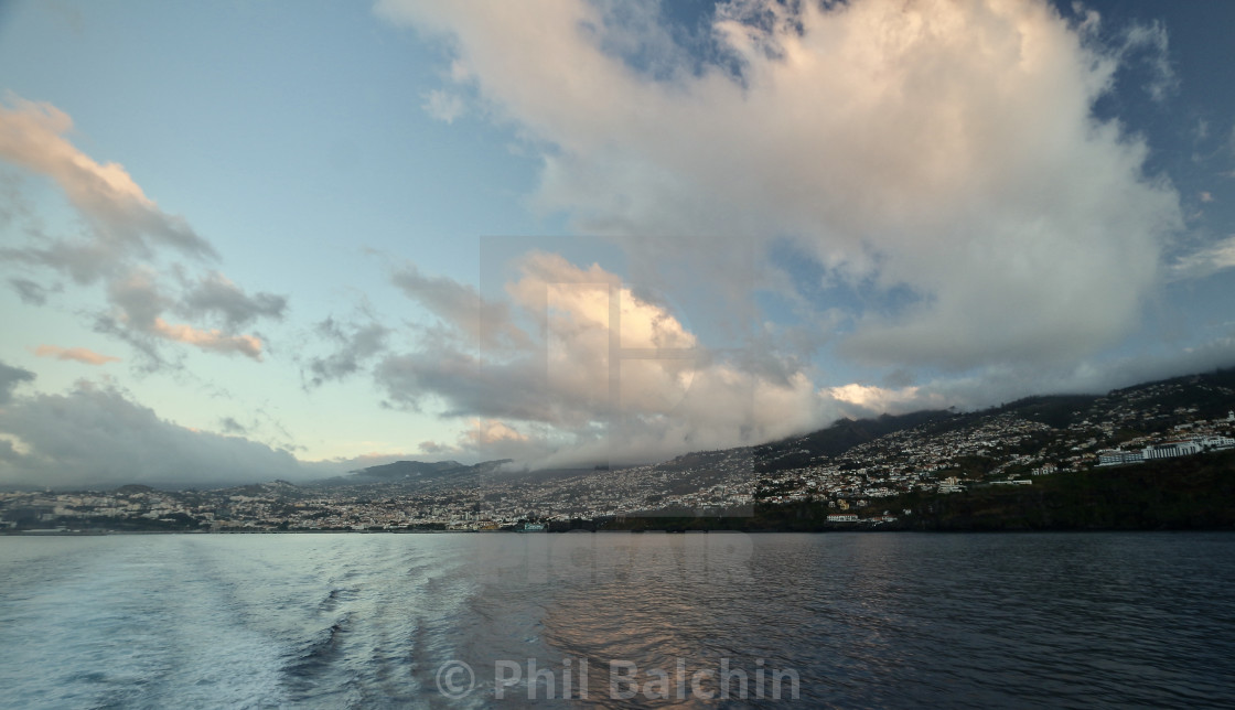 """""""View looking back at Funchal, Portugal"""" stock image"""