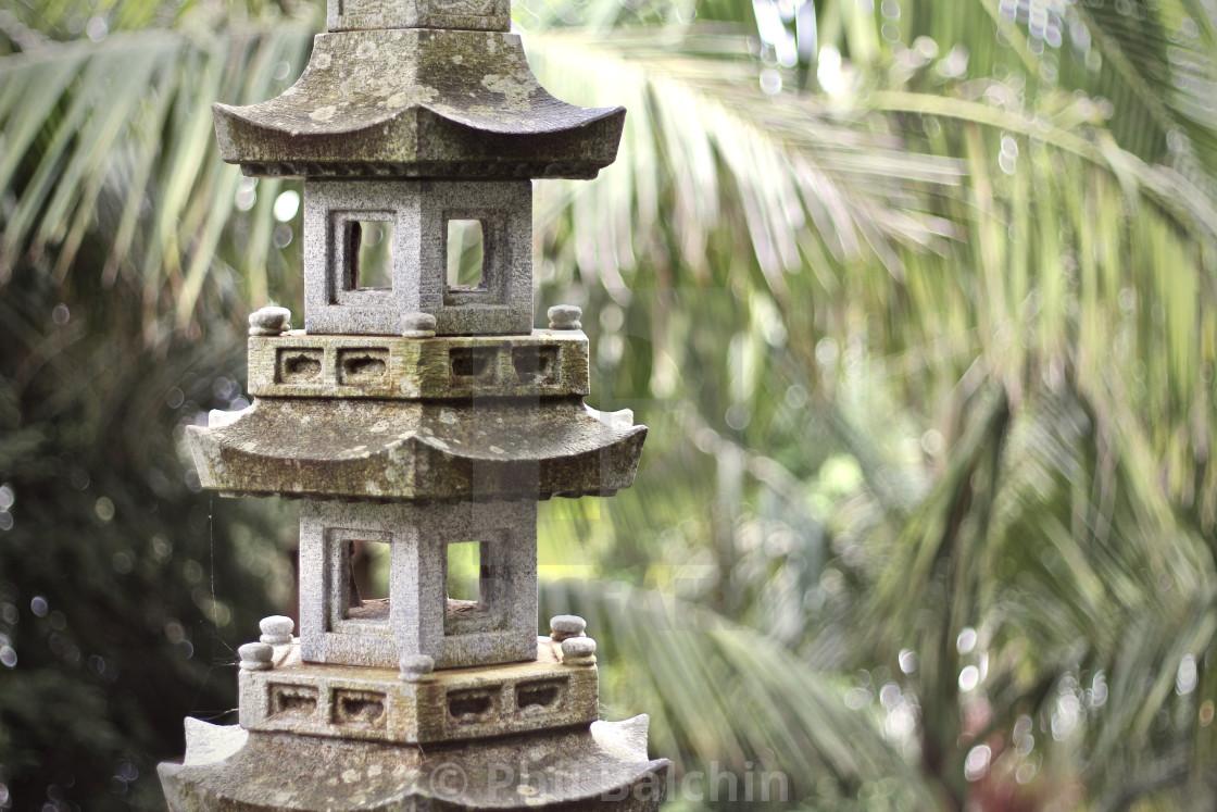 """""""Japanese Stone Lantern"""" stock image"""
