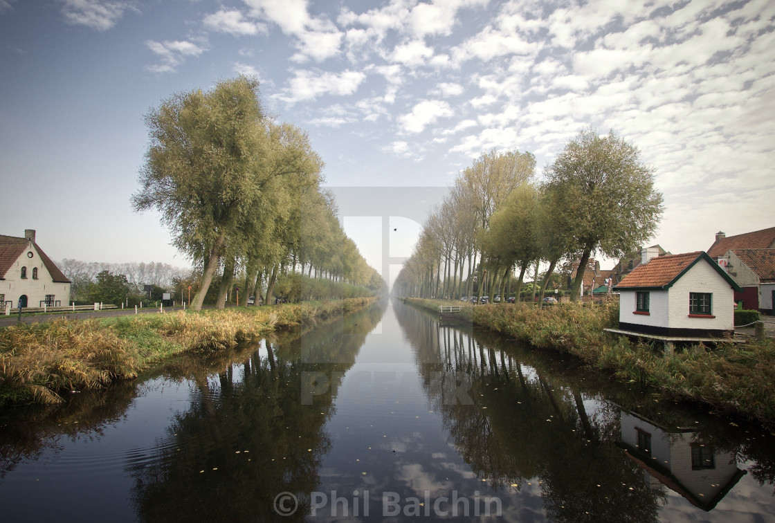 """A canal waterway"" stock image"
