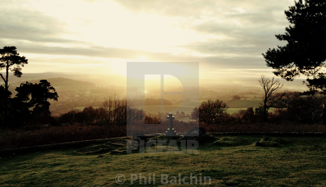 """""""Sunset over a graveyard"""" stock image"""