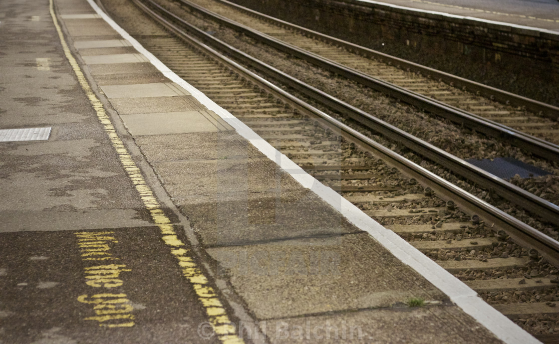 """Train Platform and tracks"" stock image"