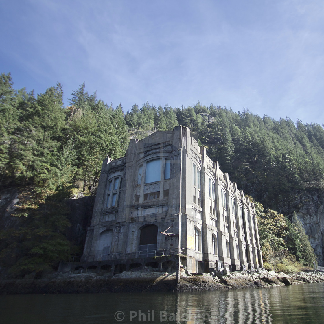 """abandoned hydroelectric power stations"" stock image"