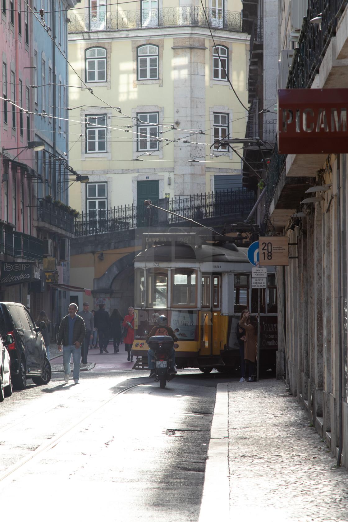 """Lisbon streets"" stock image"