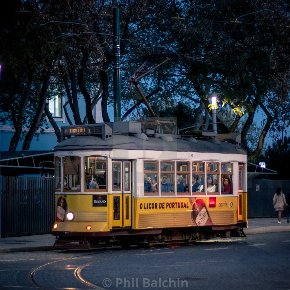 """Tram in Lisbon"" stock image"