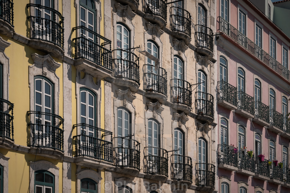 """Balconies in Lisbon"" stock image"