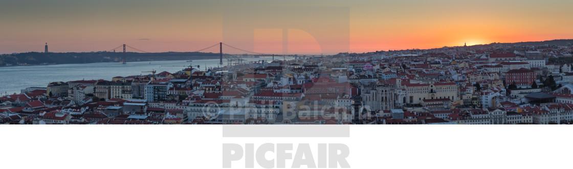 """Panorama of Lisbon"" stock image"