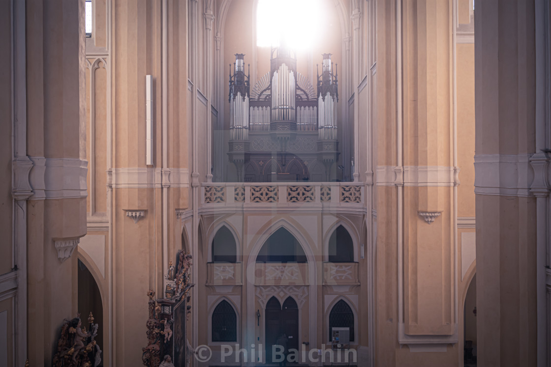 """Cathedral of Assumption of Our Lady and St. John the Baptist"" stock image"