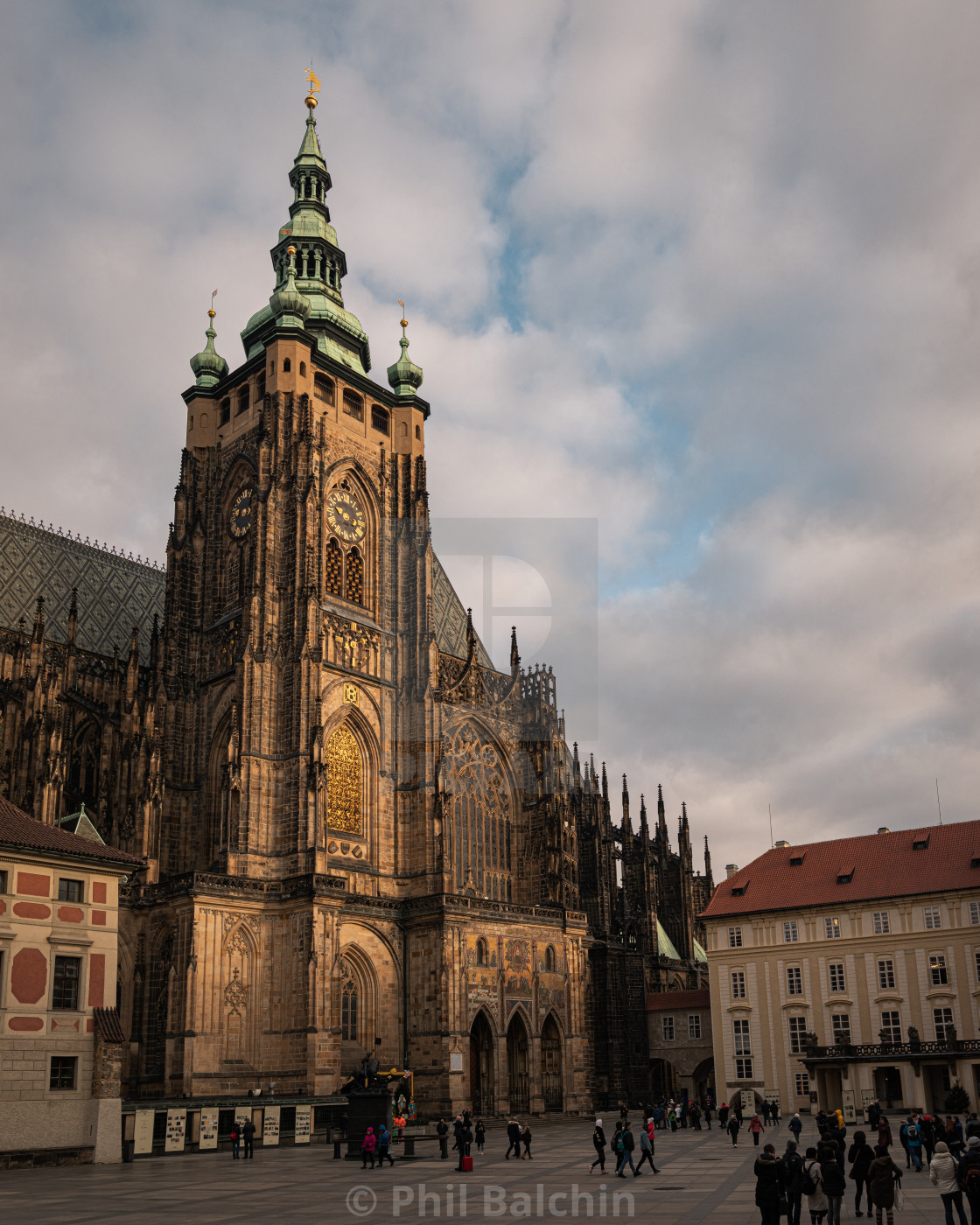 """St. Vitus Cathedral, Prague Castle, Czechia"" stock image"