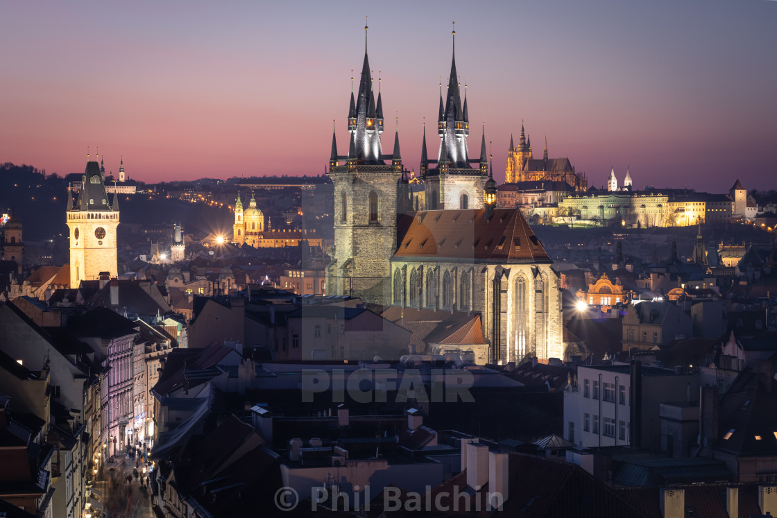 """Church of Our Lady before Týn, Prague, Czechia"" stock image"