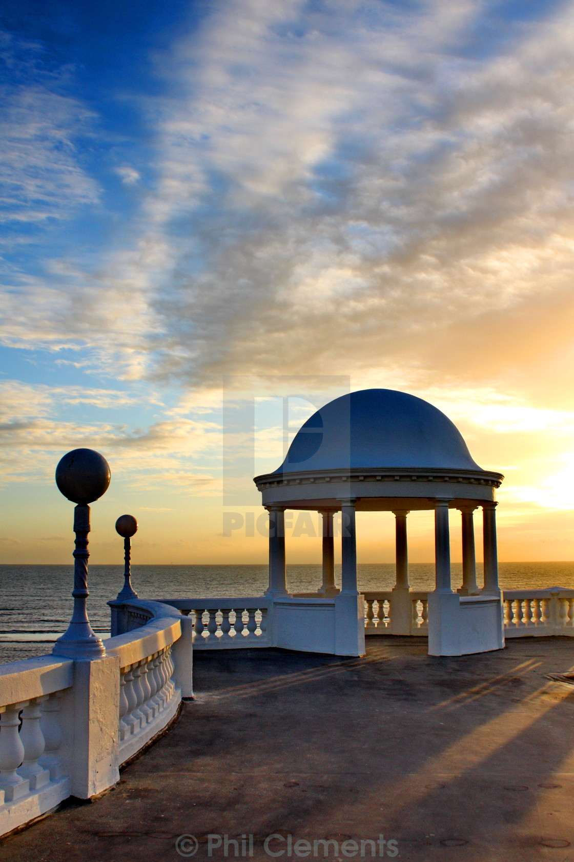 """""""The Colonnade, Bexhill"""" stock image"""