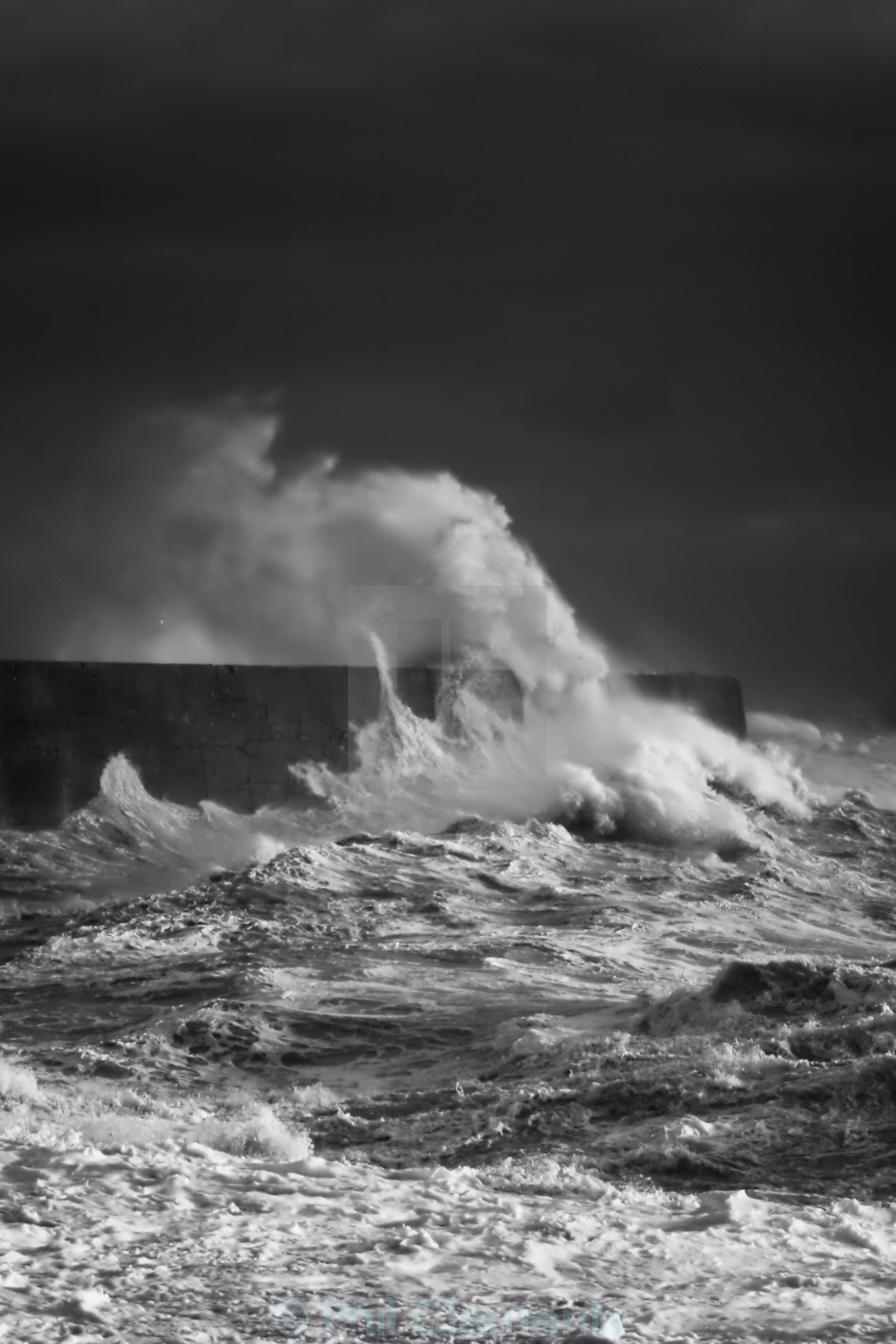 """Newhaven Harbour Wall"" stock image"