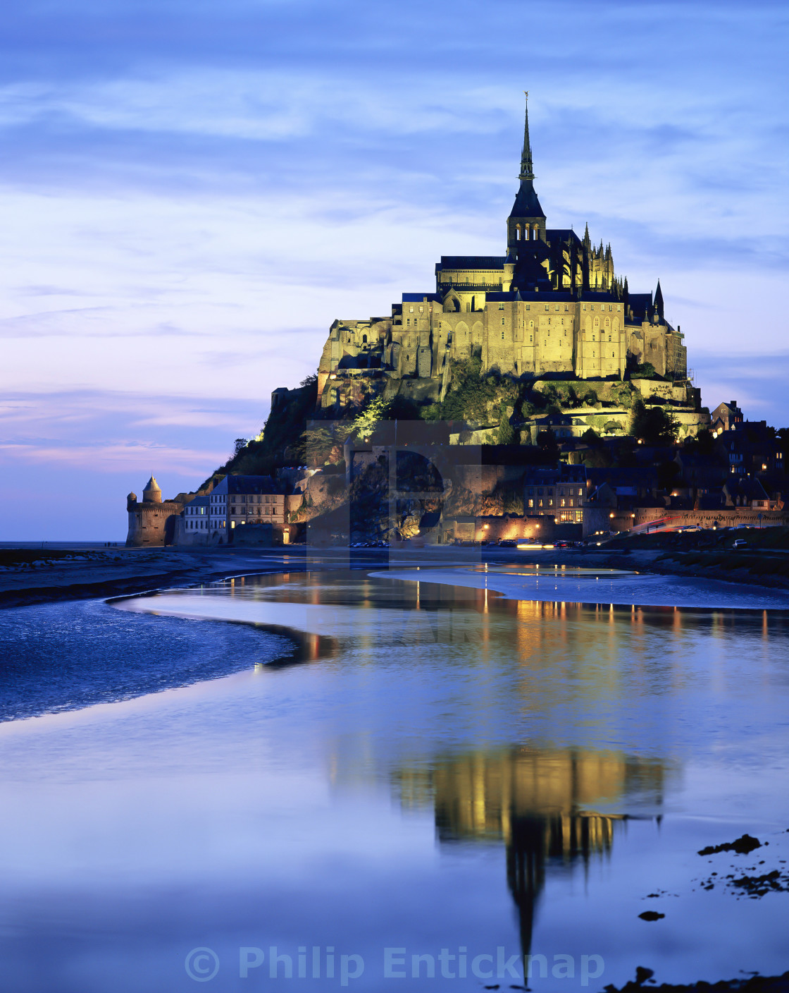 """MONT-ST-MICHEL,FRANCE."" stock image"