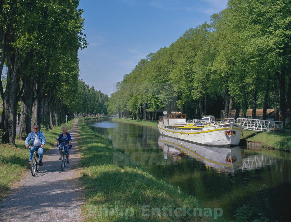 """Canal De La Somme,Abbeville ,Picardy France"" stock image"