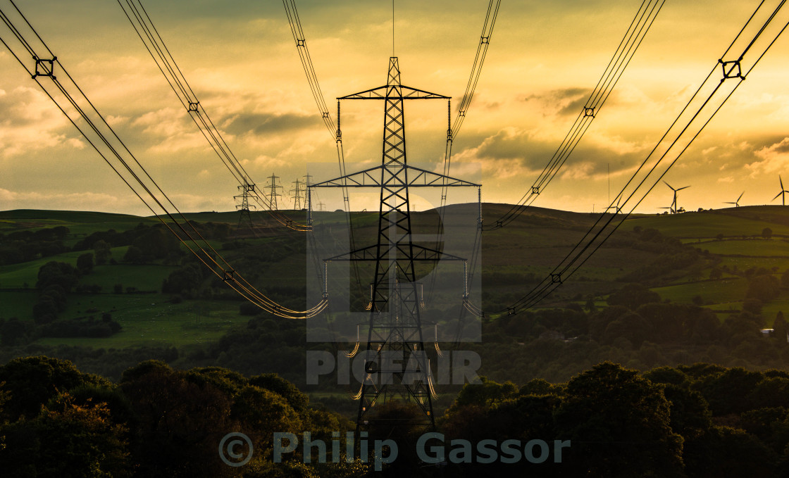 """""""March of the Pylons."""" stock image"""