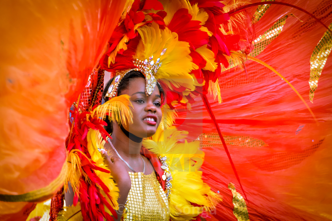 """Young Girl at Leeds Carnival"" stock image"