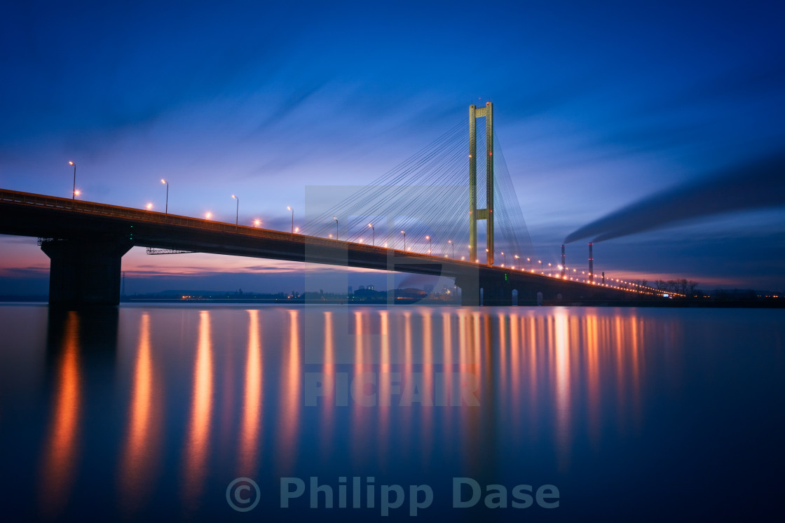 """Blue Hour Bridge"" stock image"