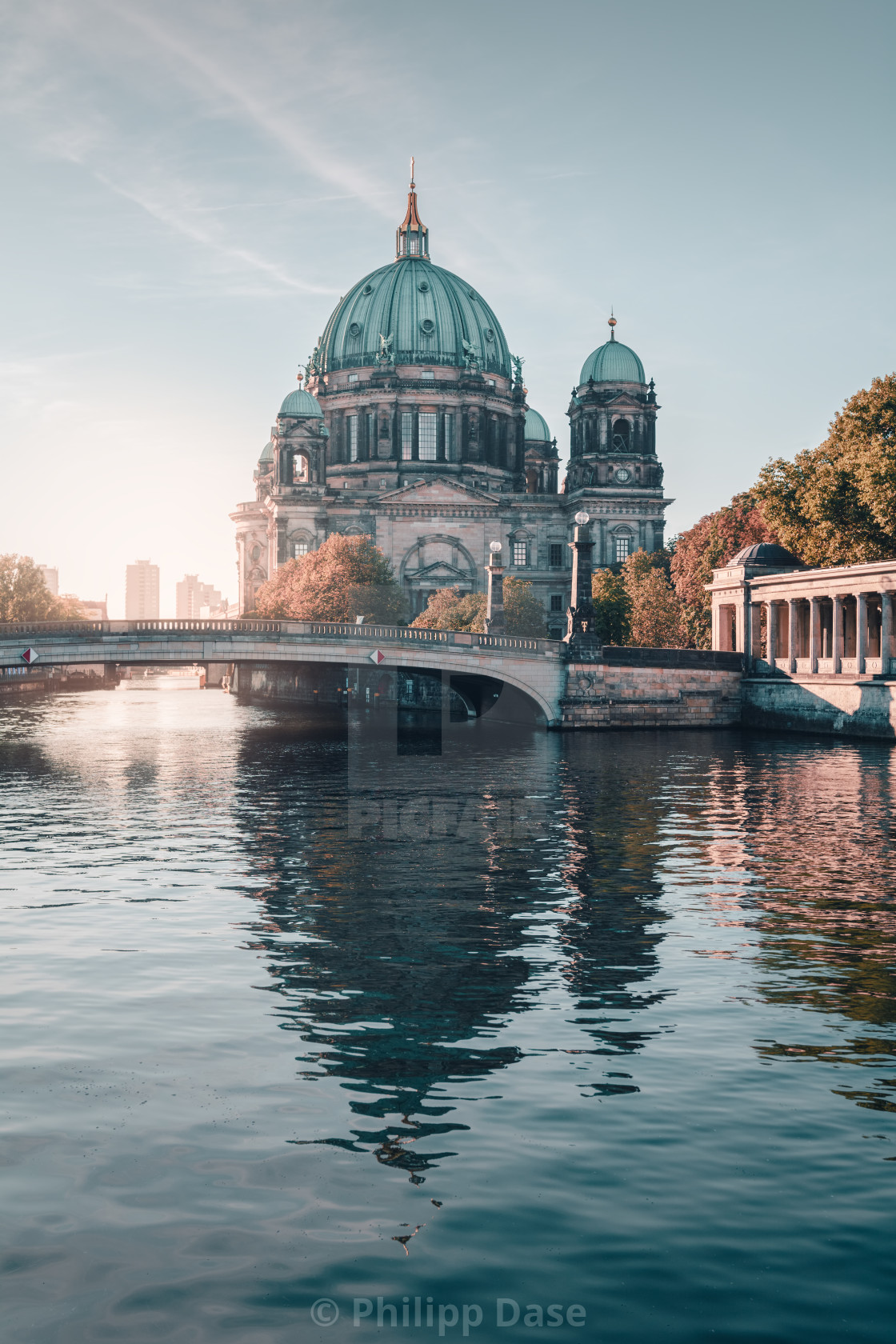 """Berlin Cathedral during autumn in Berlin"" stock image"