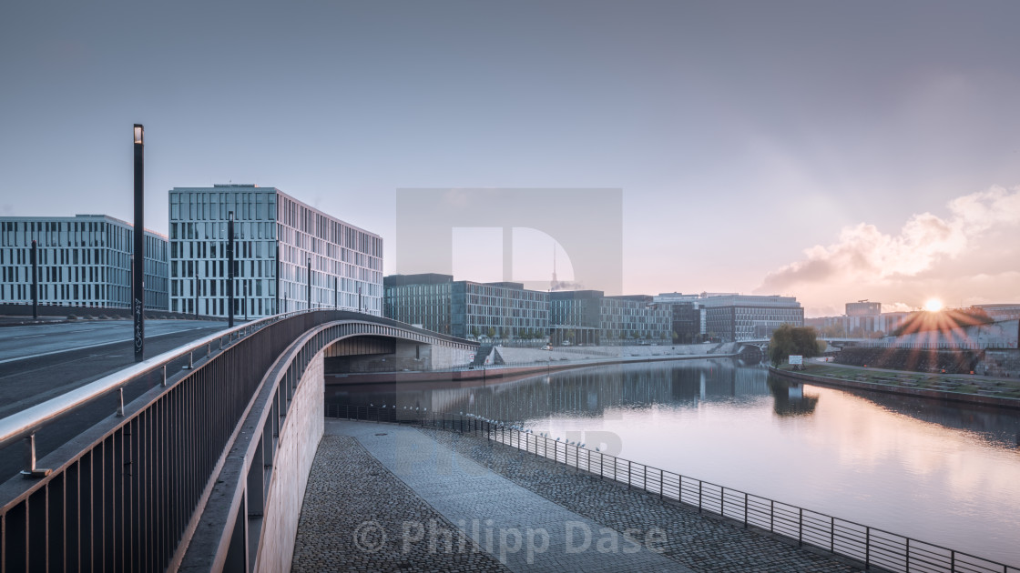 """Sunrise in central Berlin"" stock image"