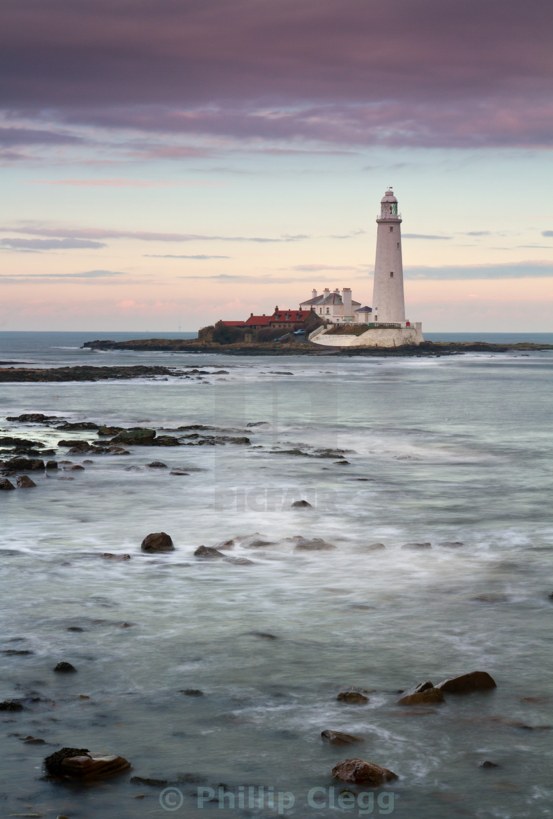 """St Mary's Lighthouse"" stock image"