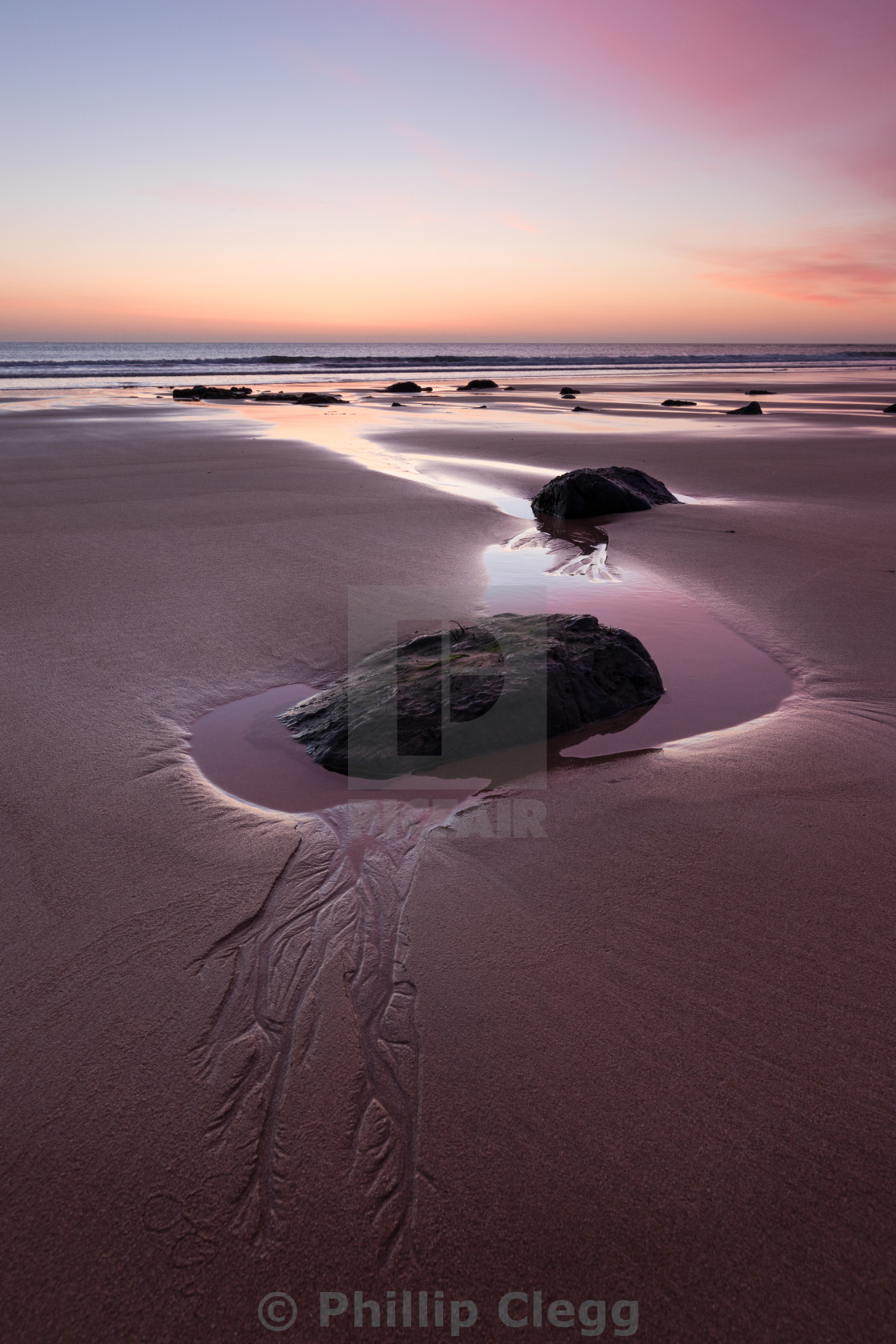 """Dawn at Embleton Bay"" stock image"