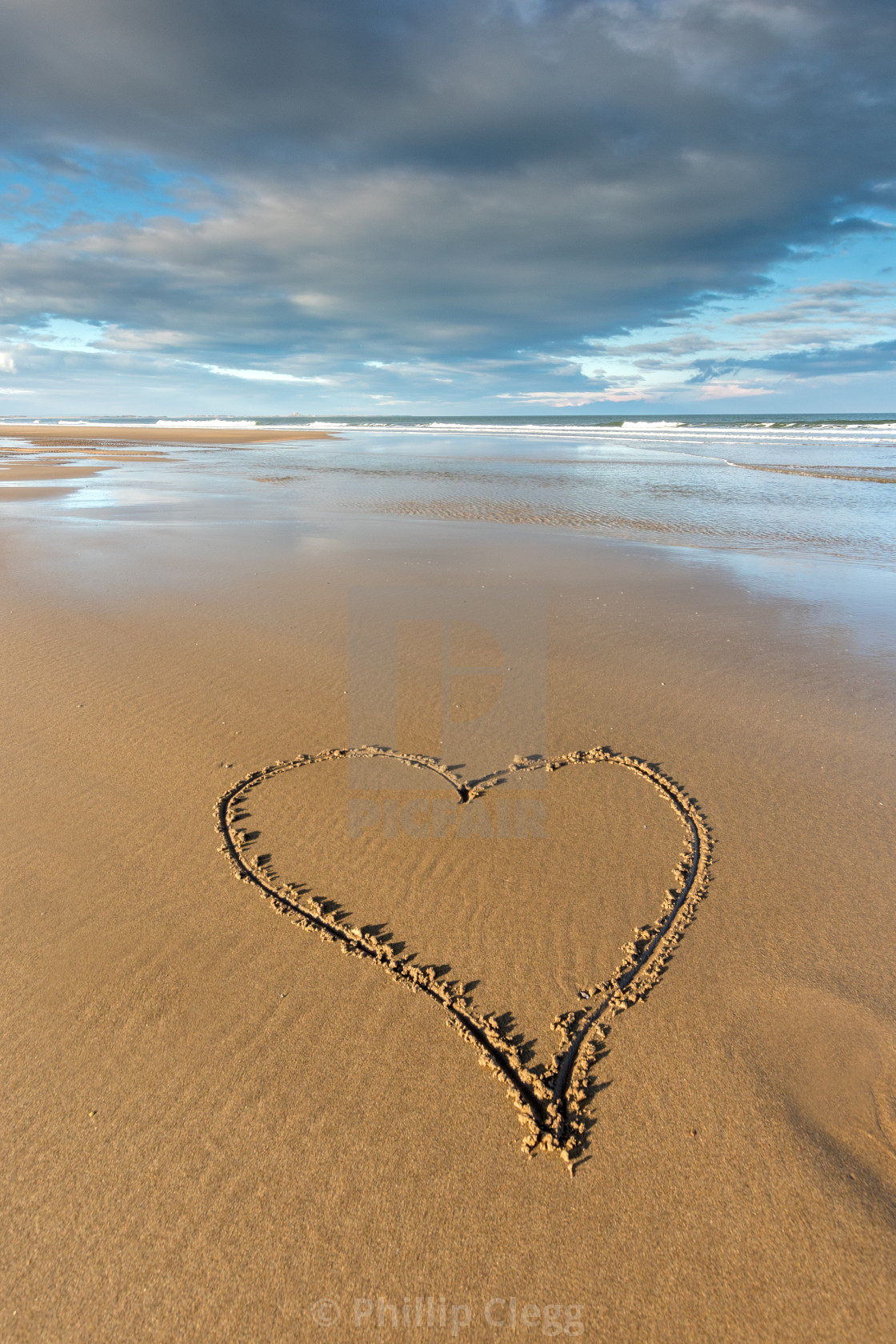 """I love Northumberland"" stock image"