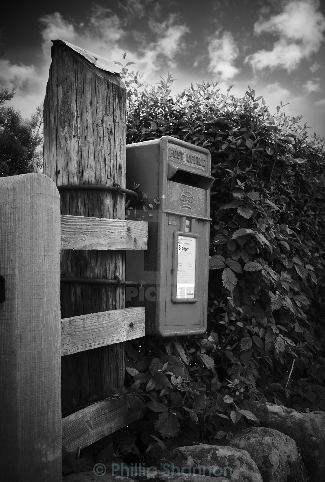 """The old post office box"" stock image"