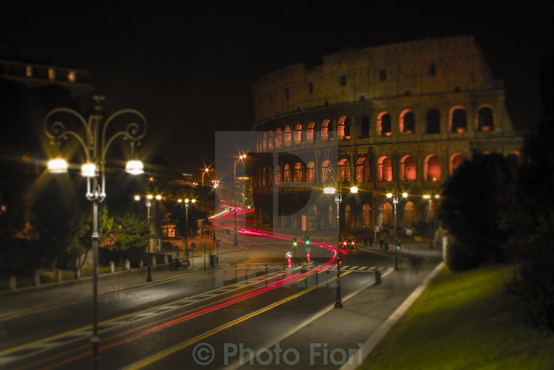 """Colosseum by night"" stock image"