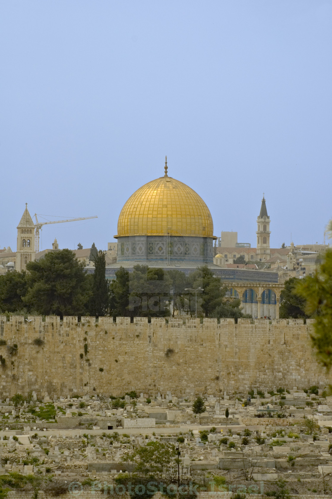 """Israel, Jerusalem, the dome of the rock"" stock image"