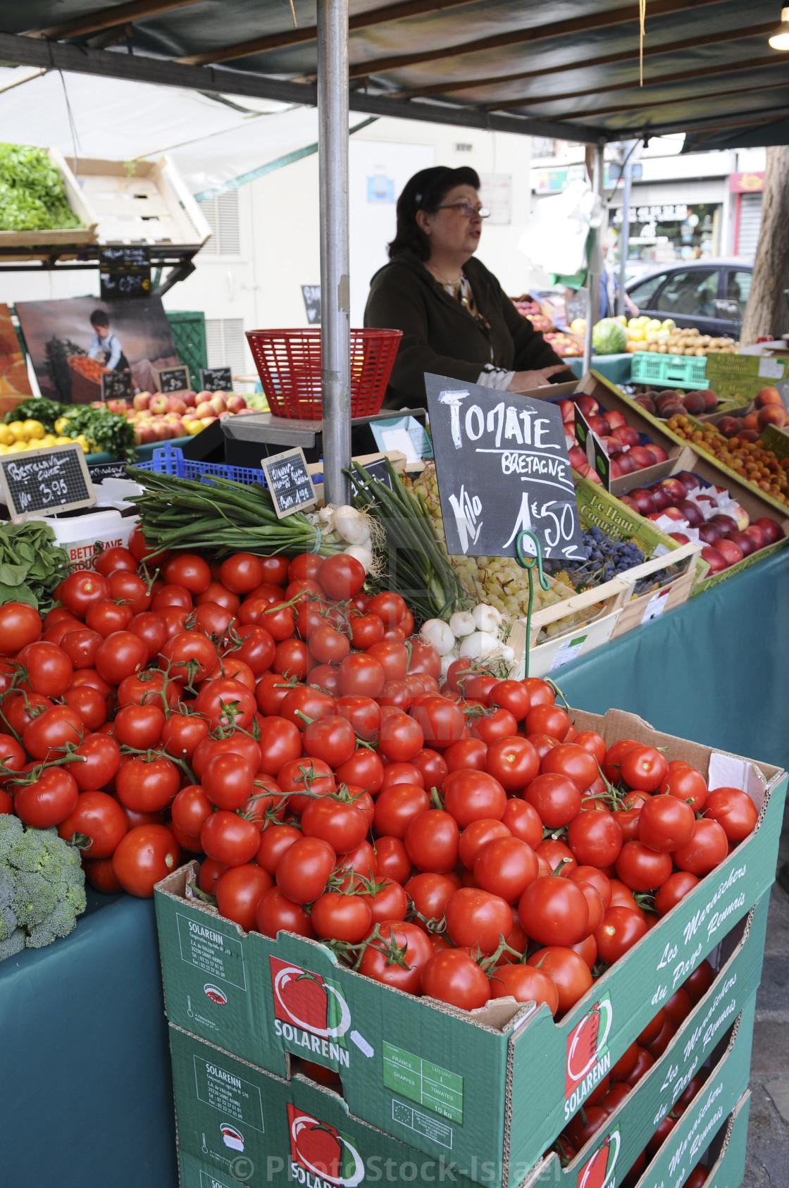 """Paris, food market"" stock image"