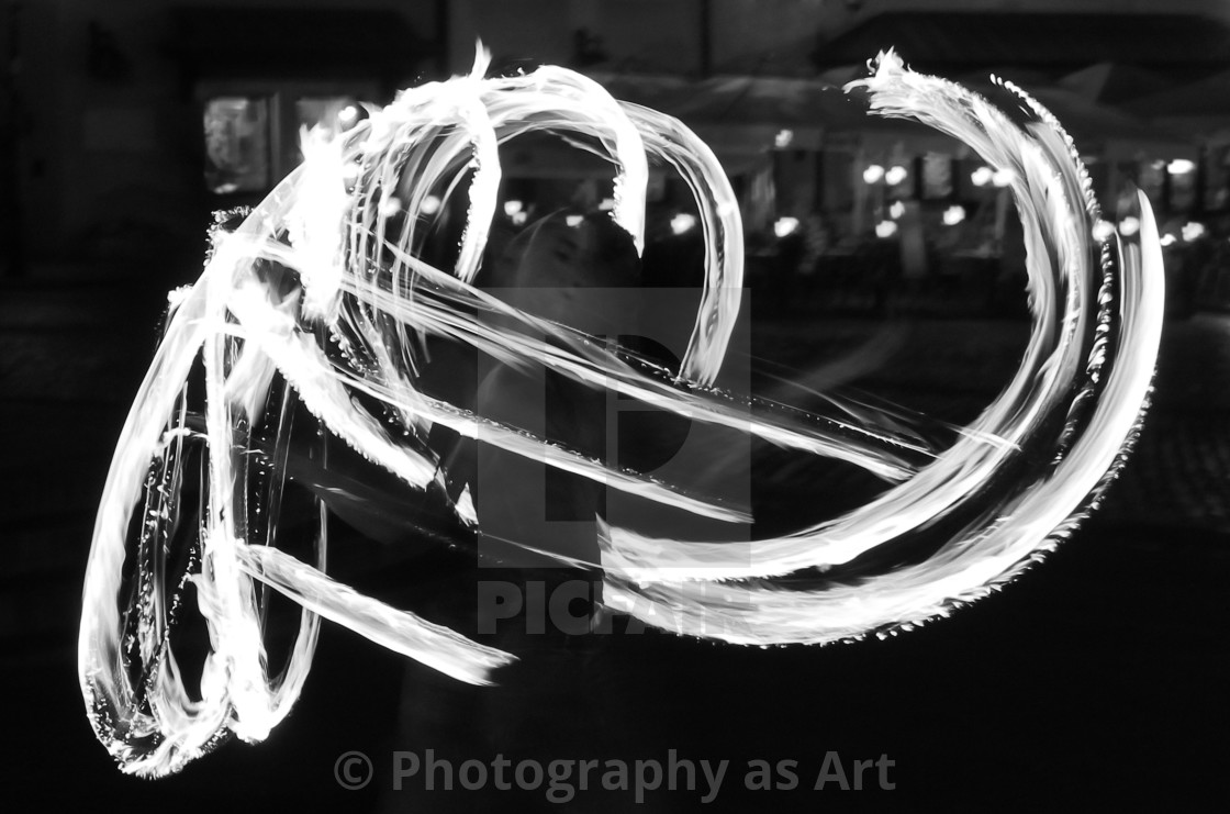 """Fireshow BW"" stock image"