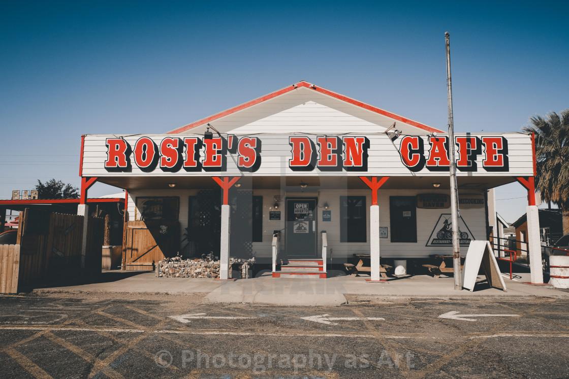 """Rosie`s Den Cafe"" stock image"