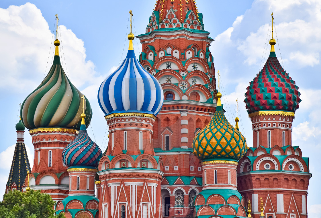 """St. Basil's Domes"" stock image"