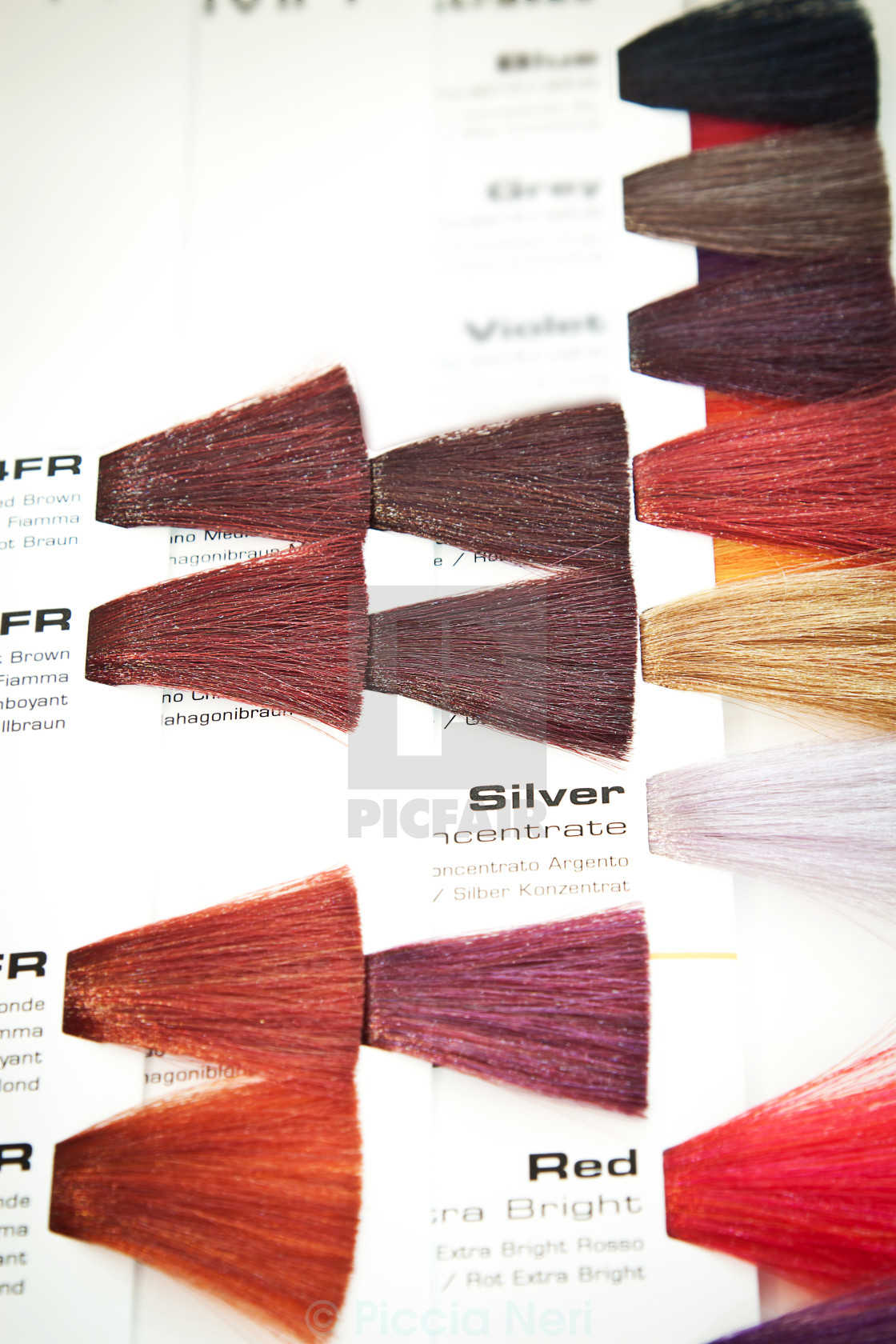 Hair dye colour swatch - License, download or print for ...