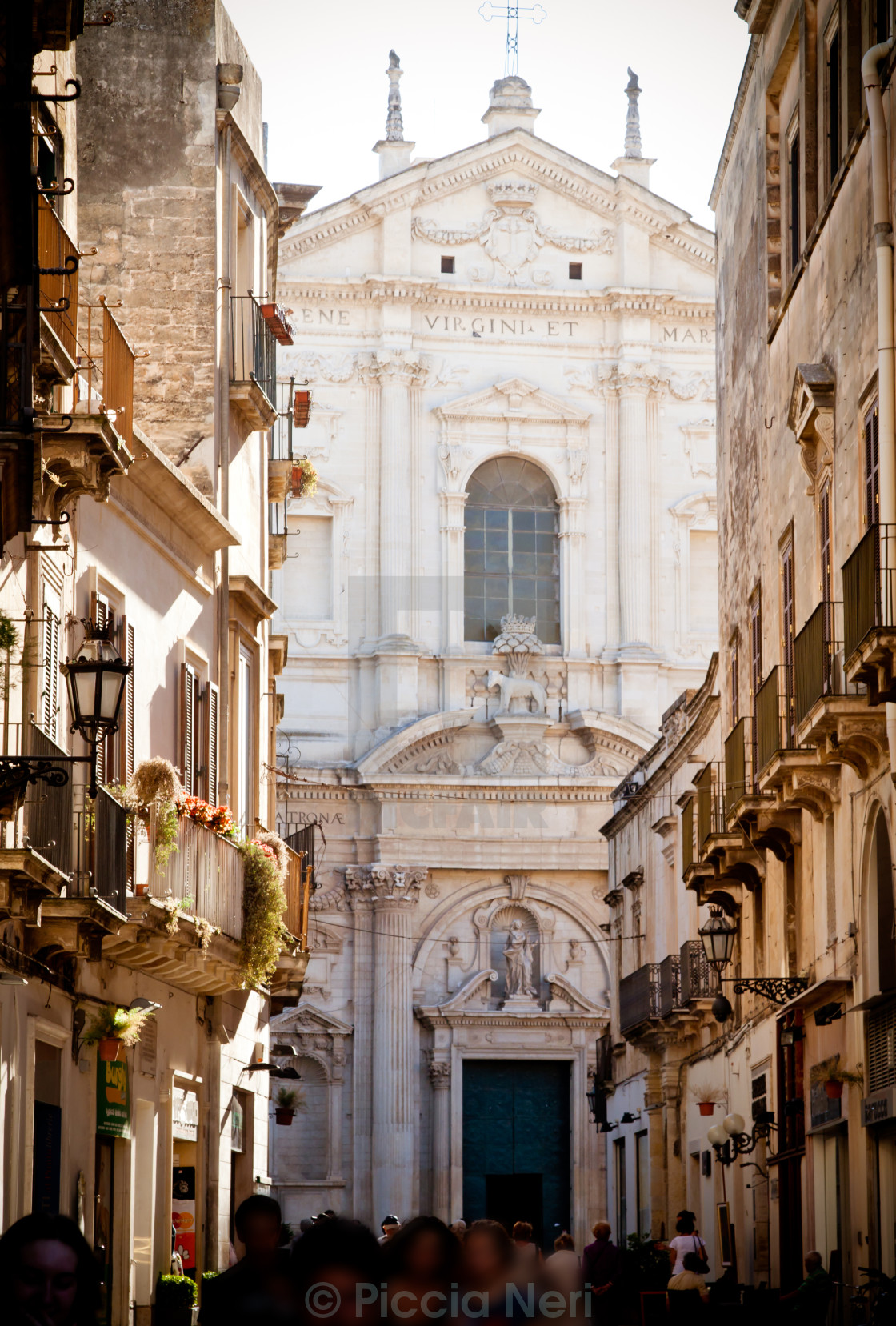 """View of Lecce with St Irene"" stock image"