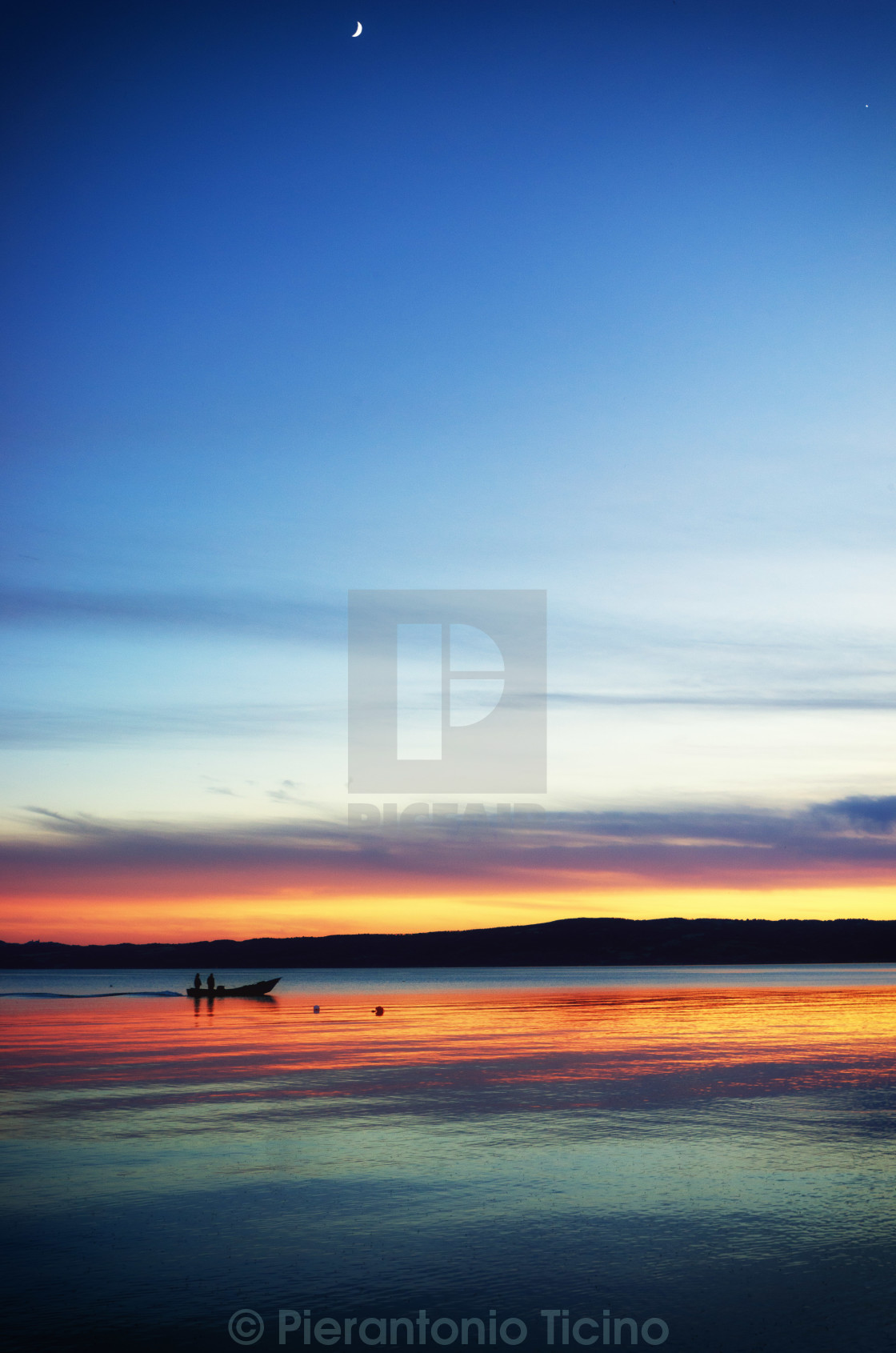 """Lake Bolsena"" stock image"
