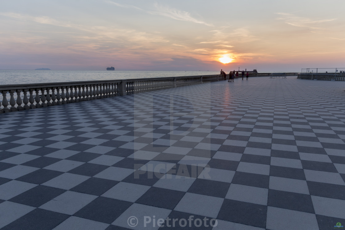 """Sunset in Livorno"" stock image"