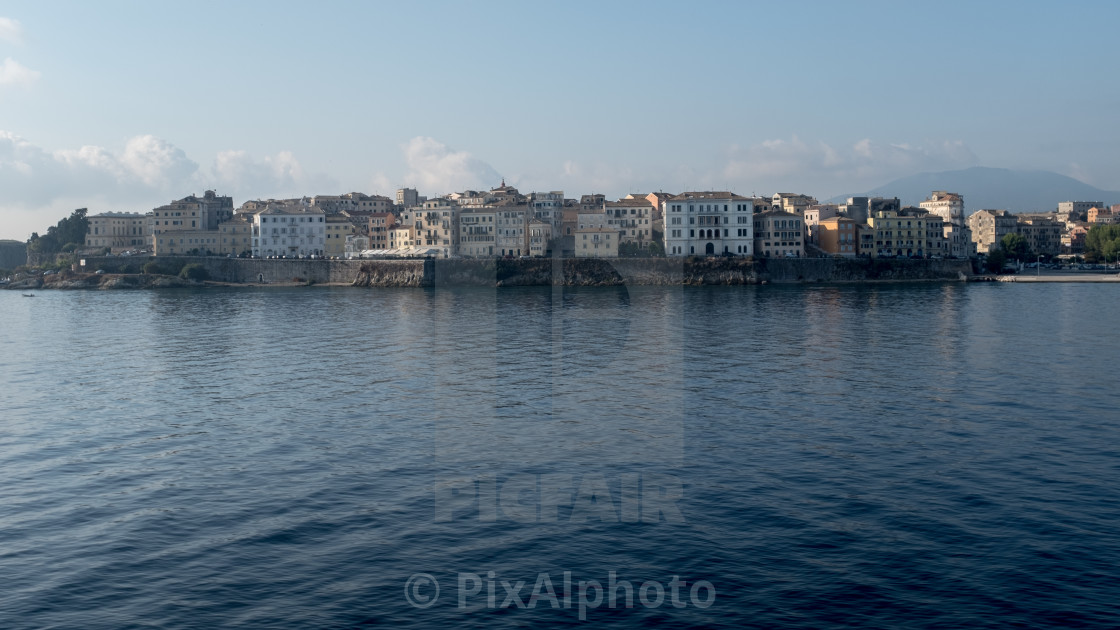 """Corfu Town From The Sea"" stock image"