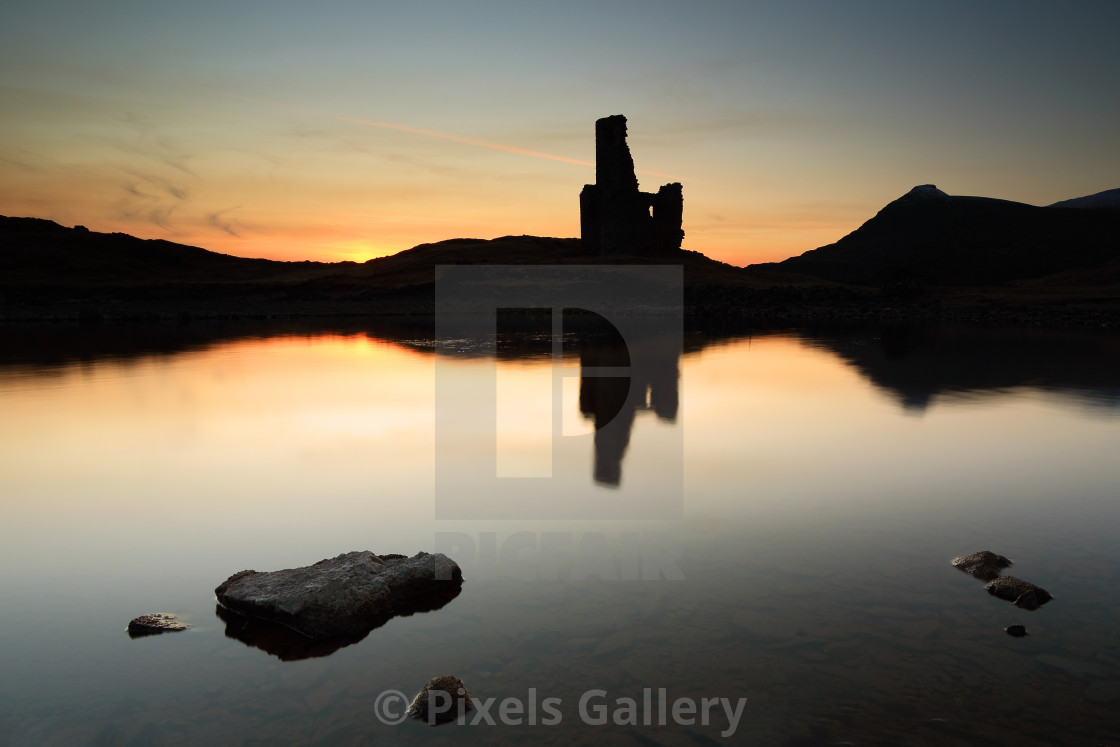 """Ardvreck Castle Sunset"" stock image"