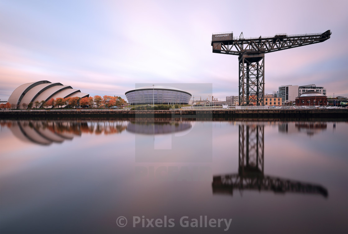 """Glasgow River Clyde"" stock image"