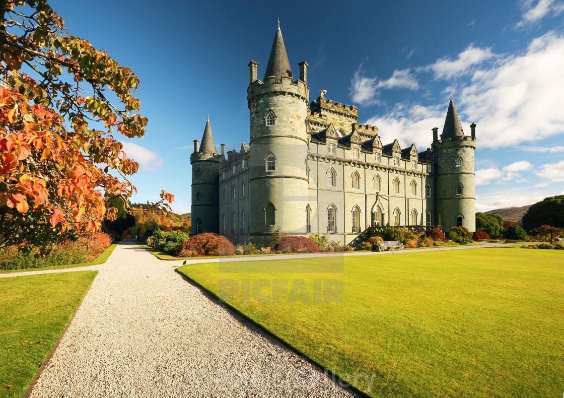 """""""Inveraray Castle"""" stock image"""
