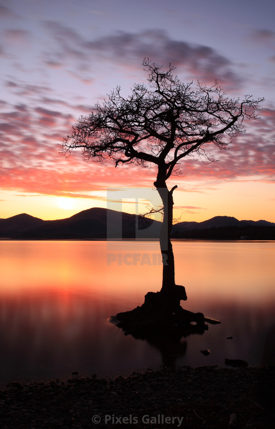 """Milarrochy bay Sunset"" stock image"