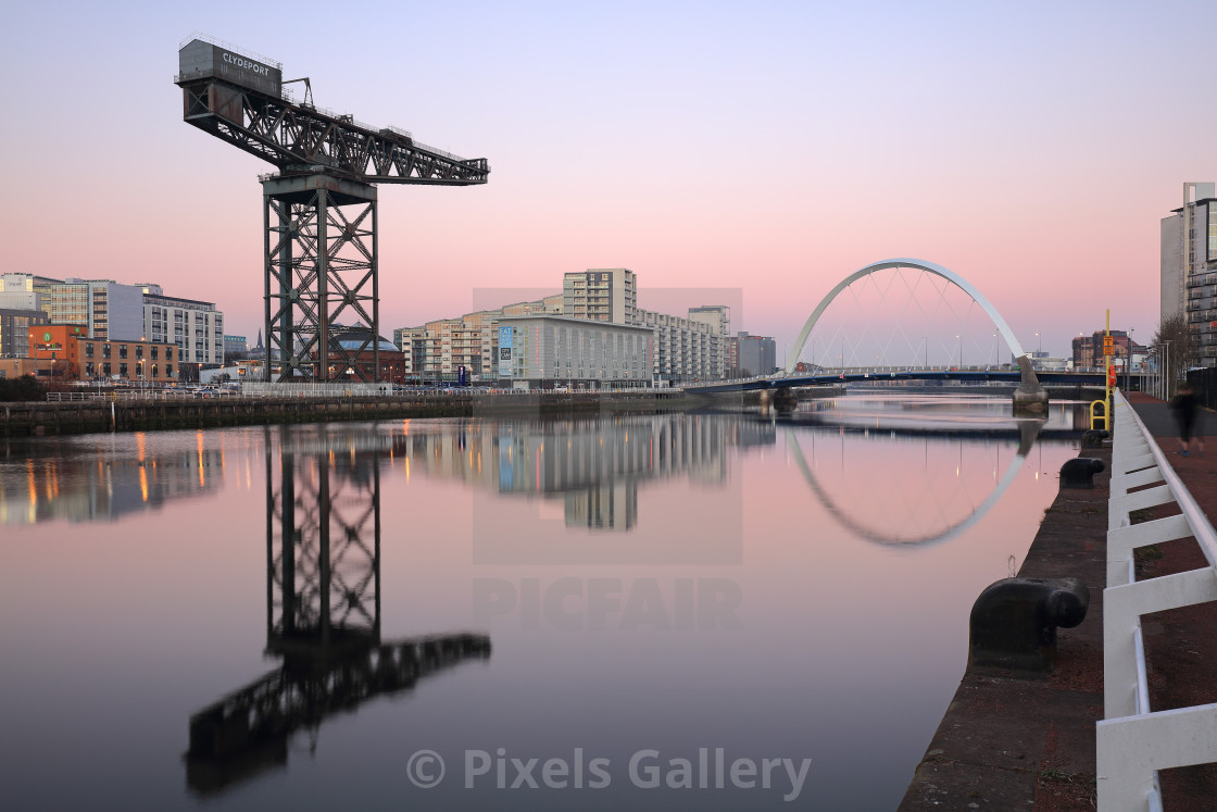 """Clyde Waterfront Hues"" stock image"