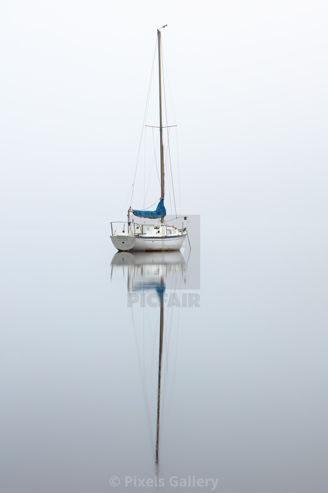 """Misty boat"" stock image"