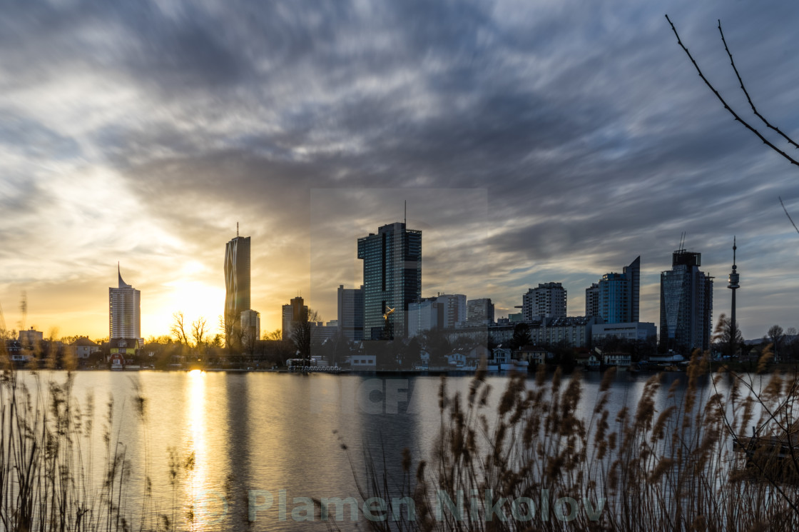 """UN City Vienna - Alte Donau"" stock image"