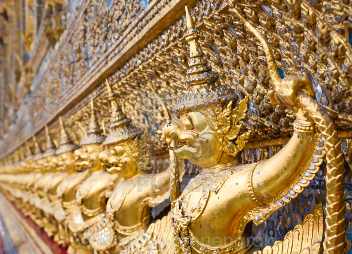 """garuda decoration of tha temple of the Emerald Buddha"" stock image"