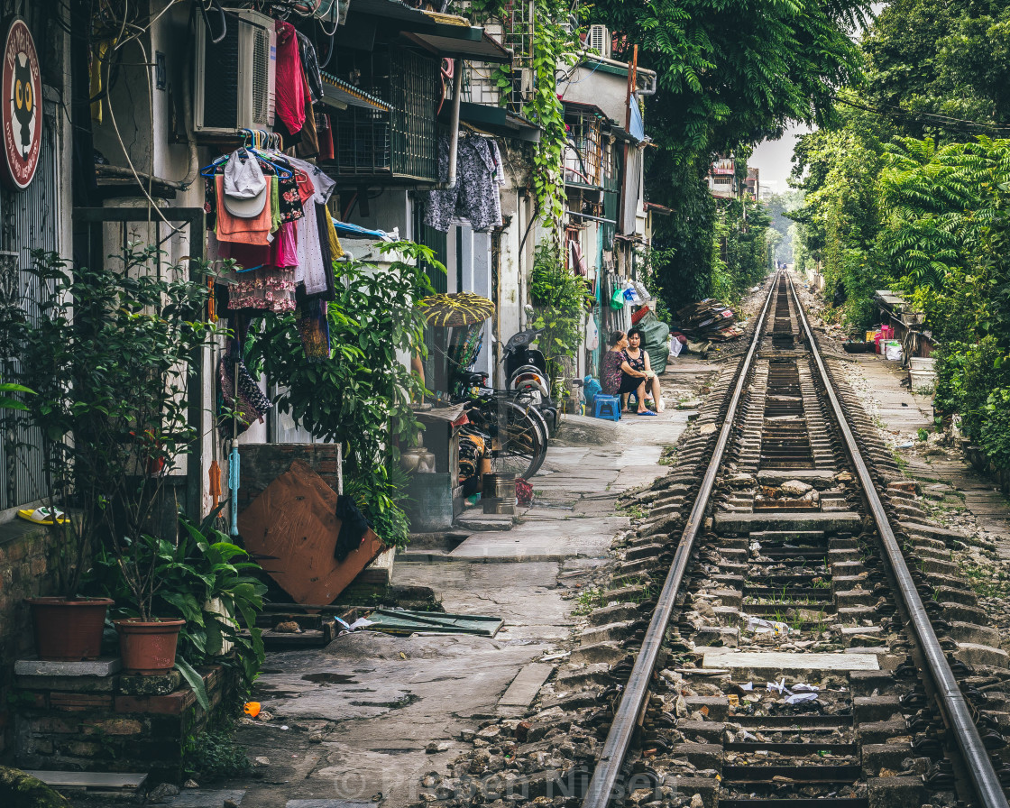 """Hanoi Railroad"" stock image"