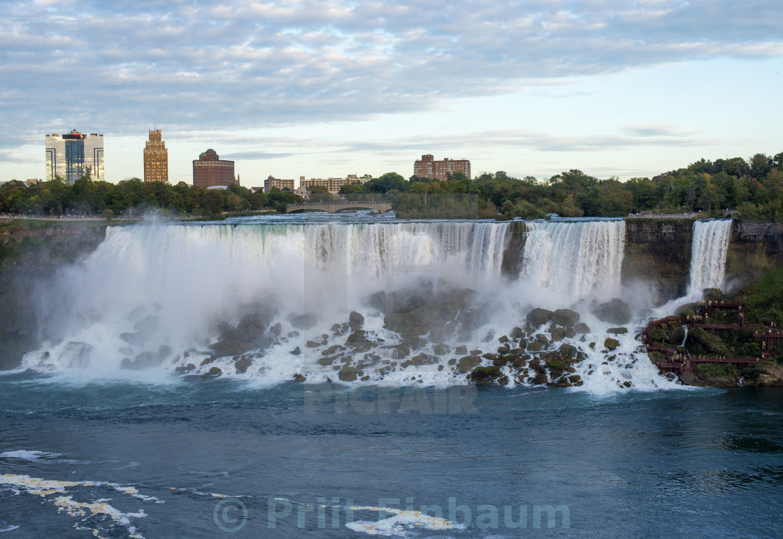 """America Falls At Dusk"" stock image"