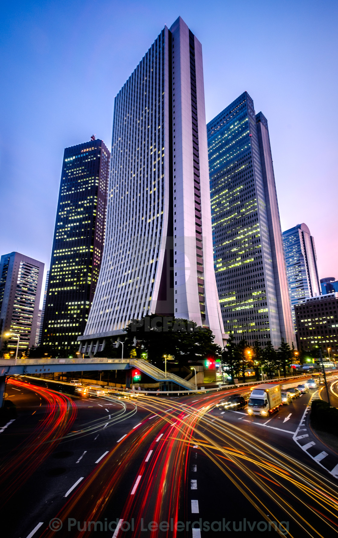 """traffic in Shinjuku financial district"" stock image"